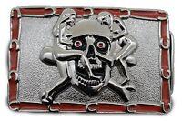 Men Women Silver Metal Belt Buckle Skull Skeleton Sexy Ladies Horseshoes Bones