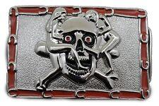Skull Skeleton Sexy Ladies Horseshoes Bones Men Women Silver Metal Belt Buckle