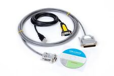 15 Ft Fanuc RS232 Serial Cable DB9F to DB25M CNC DNC Send Program for PC/Laptop.