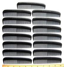 15 UNBREAKABLE HEAVY DUTY BLACK PLASTIC MEN'S POCKET HAIR COMBS BRUSH USA MADE