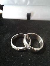 MENS WOMENS  LCS DIAMOND 3 STONE WEDDING BAND RING SET SIZES 6 7 8 9 10 11 12 13