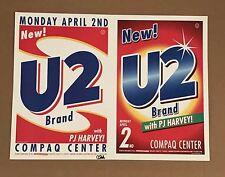 U2 Compaq Center Poster April 2Nd 2001 Ultra Rare Concert Poster 1St Edition