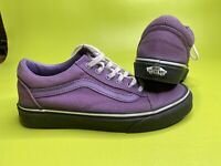 Vans Shoe OLD SKOOL Black outsole Purple Canvas Men's 5.0 Women's 6.5
