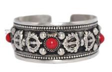 Coral Bracelet Nepal Bracelet Cuff Bracelet Tibetan Bracelet Boho Bracelet