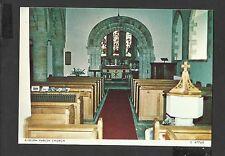Judges Postcard Interior Church of St Mary Kilburn North Yorkshire Unposted