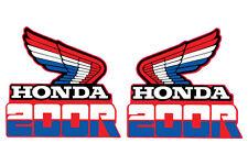1985 HONDA XR 200 GAS TANK DECAL SET VINTAGE MOTOCROSS AHRMA