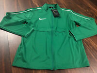 New Nike Youth Park 18 Soccer Full Zip Jacket Size XL Green White