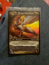 World of Warcraft Blazing Hippogryph Loot Card scratched Used