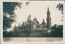 Espagne,  Saragosse, Basilique de Nuestra Señora del Pilar Vintage print, Photog