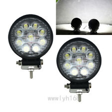 2X Car Truck 27W 12V 24V Round LED Work Spot Light Flood Driving Bright Bulb SUV