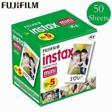 50 Sheets Fujifilm Instax White Instant Camera Photo Film