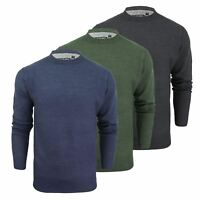 Mens Jumper Brave Soul Ruse Crew Neck Knitted Sweater