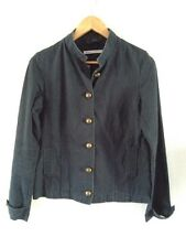 Jacket Size 12 Papaya Cotton Military Fitted Dark Blue <R11760