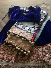 High Quality Indian Priyanka Chopra Blue Lehenga Choli Medium