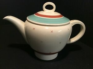 """SUSIE COOPER  RARE """"TYROL"""" PATTERN A GOOD & LARGE"""" FALCON"""" SHAPE '30' TEAPOT"""
