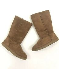 Womens Uggs Classic Tall Chestnut Brown Boots Size 6 5229 Sheepskin Suede