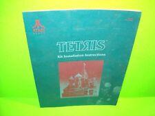 Atari TETRIS Original 1987 Video Arcade Game Kit Service Repair Manual FAIR