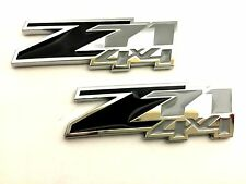 x2 New Black & Chrome Z71 4x4 Emblem Badge Chevy Truck SUV Replaces OEM 23172678