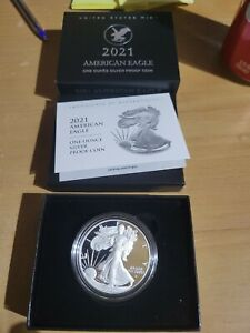 American Eagle 2021 One Ounce Silver Proof Coin W New design