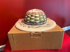 New ListingLongaberger Large Mother's Day Spring Bonnet Hat Basket Nib