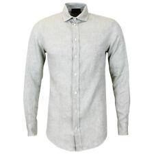 Emporio ARMANI Beige Linen Shirt Medium With Tags*