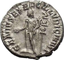 TRAJAN DECIUS 250AD Silver Authentic Ancient Roman Coin Genius  Cult  i52135