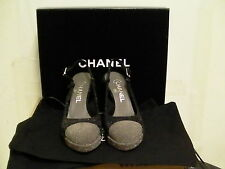 Chanel shoes women's slings pumps glitter fashion heels size 36 euro