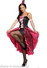 Ladies Sexy Burlesque Can Can Girl Hen Do Halloween Fancy Dress Costume Outfit