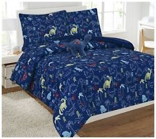 6pc Dinosaur Twin Bedding Youth Comforter Set Youth Teen Kids Bed In a Bag