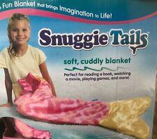 Snuggie Tails Super Soft Fun Cuddly Velveteen Blanket Sleeping Bag for Kids