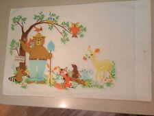 Vintage Smokey the Bear and Friends Pillowcase by Fieldcrest