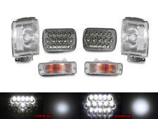 Full LED Hi+Low H6054 7x6 Headlight+Clear Corner+Bumper For 84-89 Toyota 4Runner