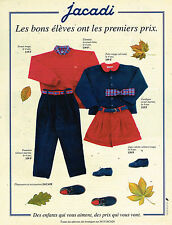 PUBLICITE ADVERTISING 074  1993  JACADI  vetements chaussures mode enfantine
