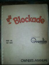 Original blockade Arcade Game Service Manual