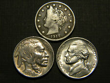 Higher Grade US 20th Centry V, Buffalo and Silver War Nickel Lot