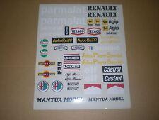 MANTUA stickers RENAULT / CASTROL / ALFA / John Player Special