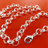 Belcher Necklace Chain Real 925 Sterling Silver S/F Solid Heavy Link Design