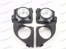 Clear Fog Light Driving Lamps+Covers Kits For Honda Accord 2009-2010