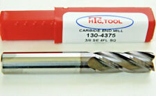 "3/8"" Solid Carbide End Mill 4 Flute ALTiN 2-1/2"" Length USA, HTC 130-4375, A12"