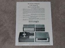 Marantz Ad 1966 Ad, Model 8b Amp, Model 7T Pre, SLT-12 Turntable, 10b Tuner,1 pg