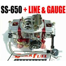 Chrome Fuel Line For Quick Fuel Brawlers carb Fits Chevy Ford Sbc Bbc 3//8 hose