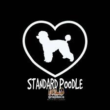 STANDARD POODLE I Love My Vinyl Sticker Decal AKC Registered Dog Groom PUPPY CUT