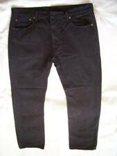 "Gents LEVI 501 Jeans W34"" L32"" Black Straight Leg Button Fly Jeans"