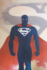 Superman 28x16 oil painting, framing avail. Batman Krypton Zod Man of Steel