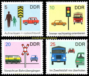 EBS East Germany DDR 1969 Road Safety (II) Michel 1444-1447 MNH**