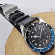 41mm CORGUET Black dial LUME GMT Sapphire Glass automatic movement men's Watch