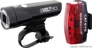 Cateye Gvolt 50 LED Fahrradlicht Set + Rücklicht Rapid Micro G Fahrradlampe