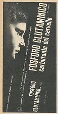 W8360 Fosforo Glutammico DE ANGELI - Pubblicità 1962 - Advertising