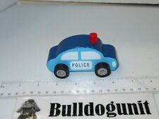 Blue Police Car Vehicle Car Wood Toy