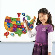 Magnetic Us Map Puzzle Kids Toy Play Activity Toddler Learning Geography Fridge